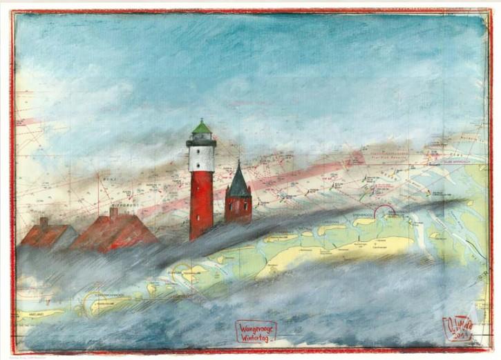 "Kunstdruck ""Wangerooge - Wintertag"""
