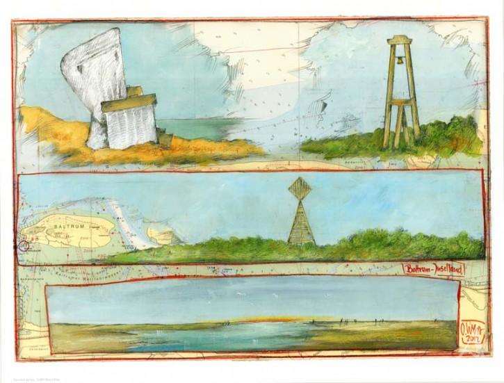 """Kunstdruck """"BALTRUM - Inselland"""""""