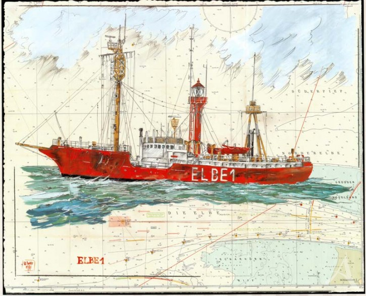 "Kunstdruck ""Elbe 1"""