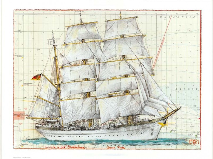 "Kunstdruck ""Gorch Fock"""