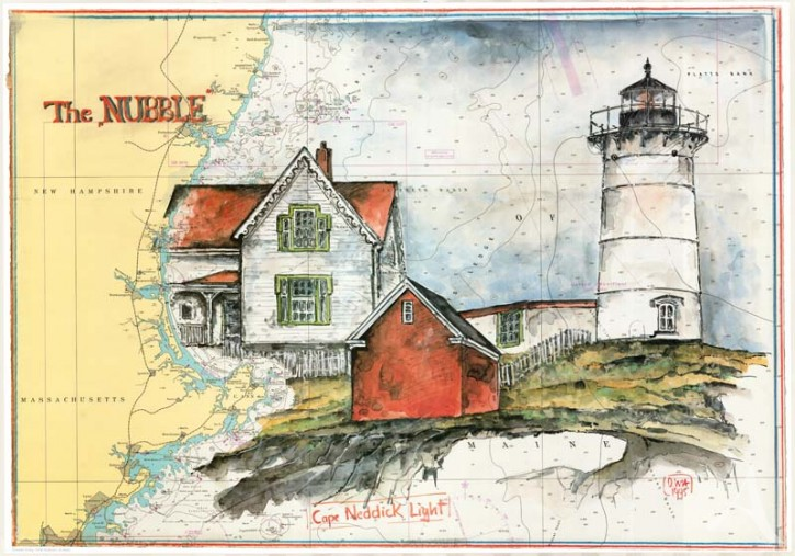 "Kunstdruck ""Cape Neddick Light"""