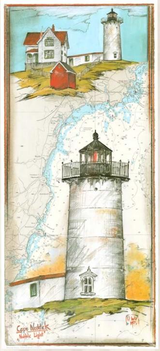 """Kunstdruck """"Cape Neddick"""""""