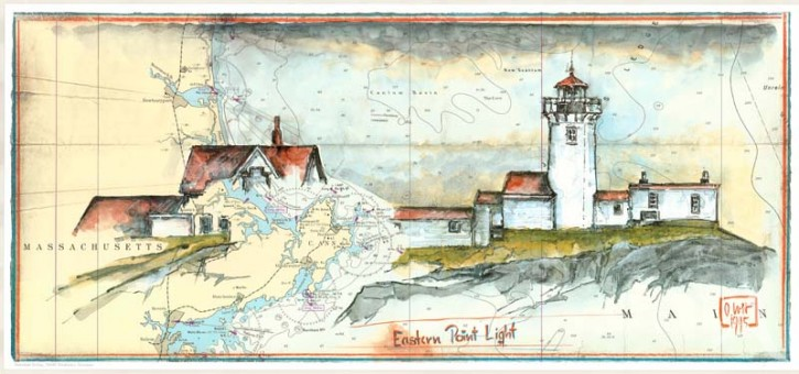 "Kunstdruck ""Eastern Point Light"""