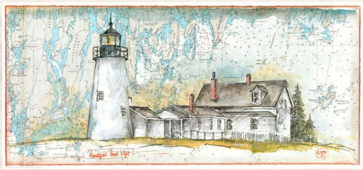 "Kunstdruck ""Pemaquid Point"""