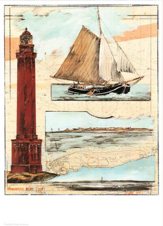 "Kunstdruck ""Norderneyer Blatt"""