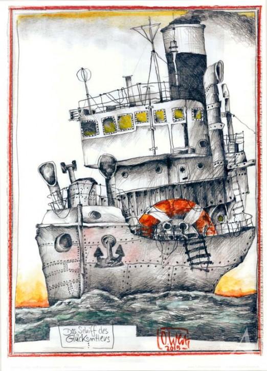 """Kunstdruck """"Das Schiff des Glücksritters"""""""