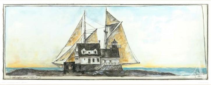 """Kunstdruck """"...und segelten vorbei, einfach so..."""" von OLE WEST."""