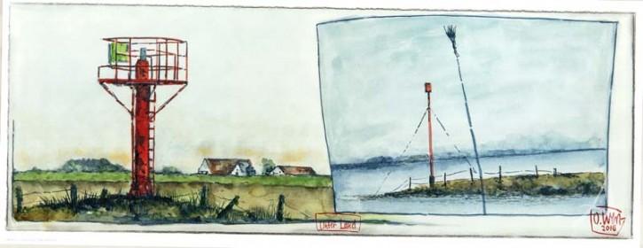 """Kunstdruck """"Unter Land"""" von OLE WEST."""