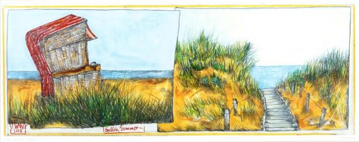 """Kunstdruck """"Endlich Sommer"""" von OLE WEST."""