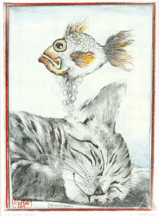 """Kunstdruck """"Katzentraum"""" von OLE WEST."""