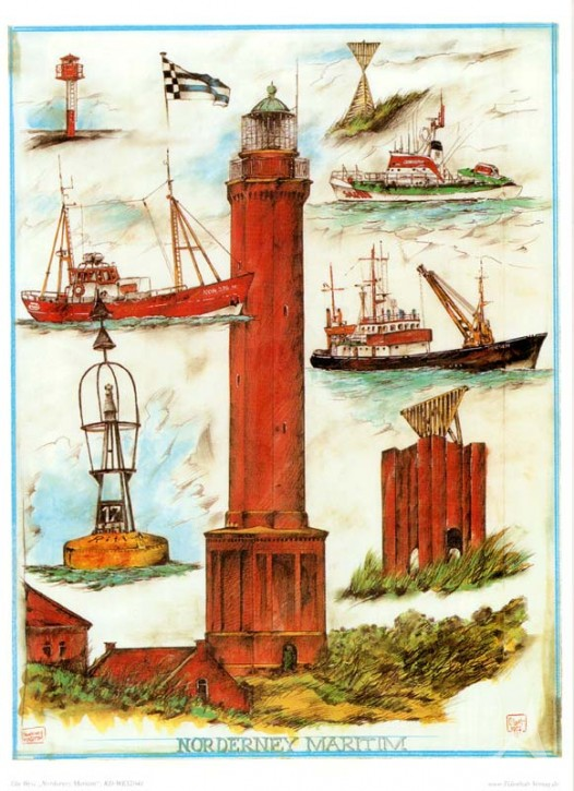 "Kunstdruck ""Norderney Maritim"""
