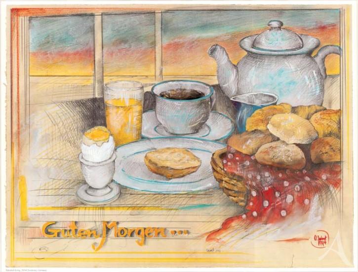 "Kunstdruck ""Guten Morgen"""