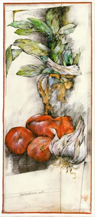 """Kunstdruck """"Tomatenzeichnerei"""""""