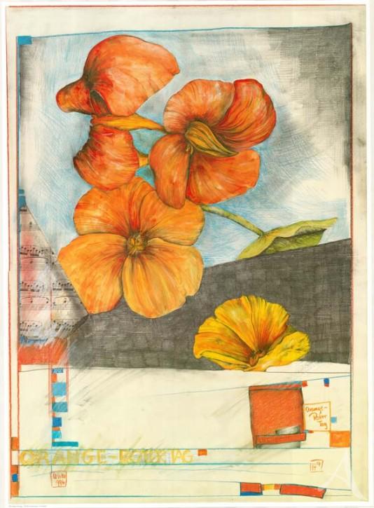 "Kunstdruck ""Orange - Roter Tag"""