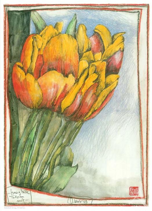 """Kunstdruck """"...bring bitte Tulpen mit"""""""