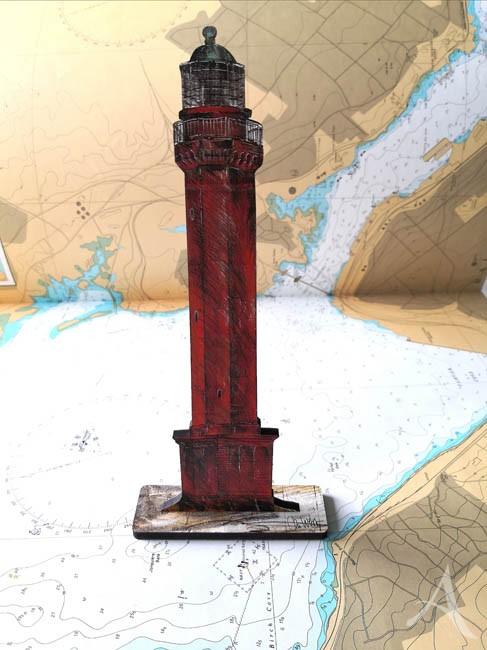 """SKULPTUR - """"Leuchtturm Norderney"""" - OBJEKT ZUM AUFSTELLEN - Ole West"""