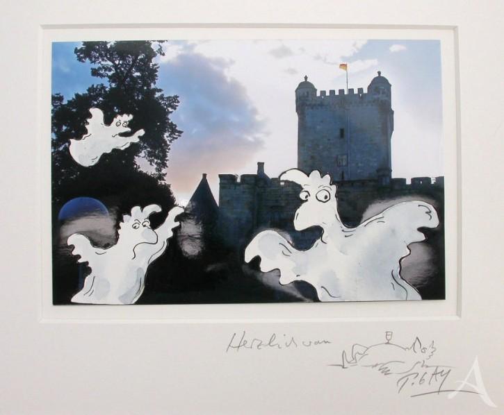 """Original - Collage auf Foto """"Geisterstunde"""" Peter Gaymann"""