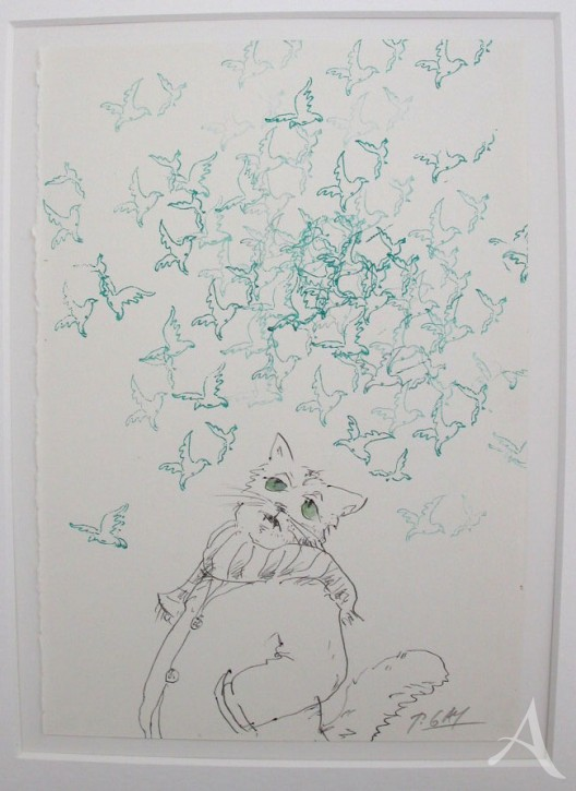 """Original - Cartoon """"Melancholische Katze"""" Peter Gaymann"""
