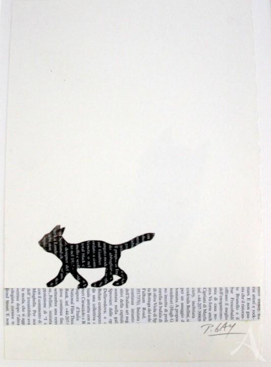 """Original - Cartoon """"Zeitungskatze"""" Peter Gaymann"""