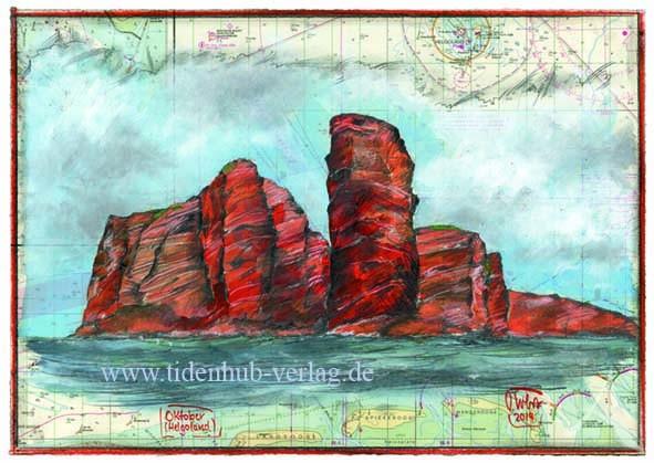 """Kunstdruck auf LEINWAND """"Helgoland"""" von OLE WEST"""