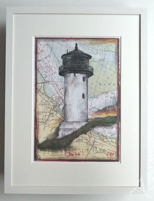 """""""Dicke Berta"""" - GERAHMTER Kunstdruck - HANDSIGNIERT von Ole West - (30 x 40)"""