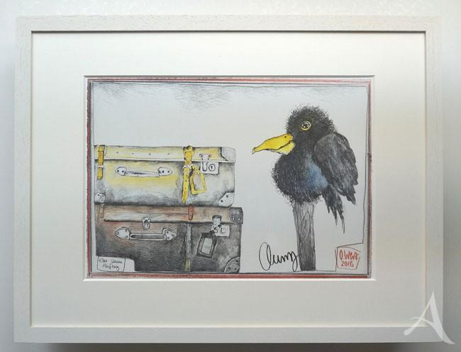 """""""Klar zum Abflug"""" - GERAHMTER Kunstdruck - HANDSIGNIERT von Ole West - (30 x 40)"""