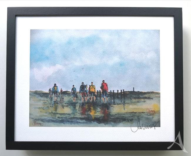"""""""Der Rückweg"""" - GERAHMTER Kunstdruck - HANDSIGNIERT von Ole West - (24 x 30)"""