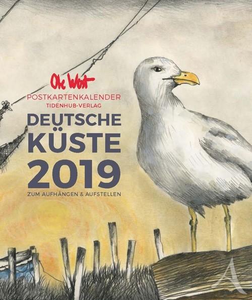 POSTKARTENKALENDER von OLE WEST für 2019