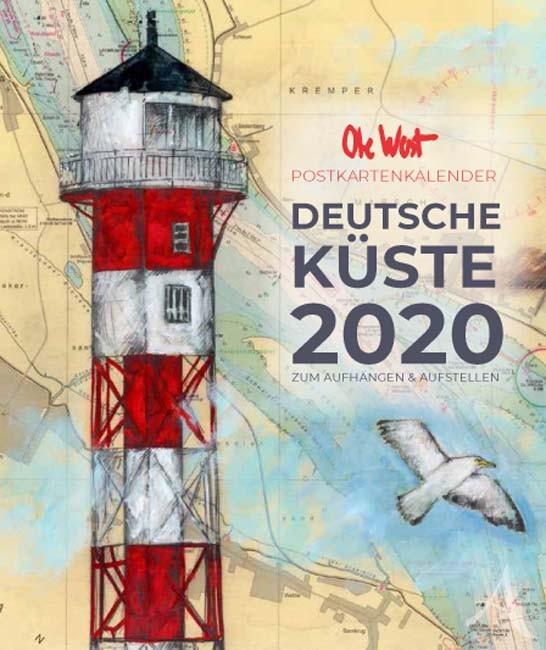 OLE WEST - Der POSTKARTENKALENDER für 2020 - zum Aufhängen UND Aufstellen