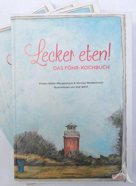 """Handsignierte VORZUGSAUSGABE - """"LECKER ETEN - Das FÖHR Kochbuch"""" - von OLE WEST - mit eingelegter Grafik - LIMITIERT!"""