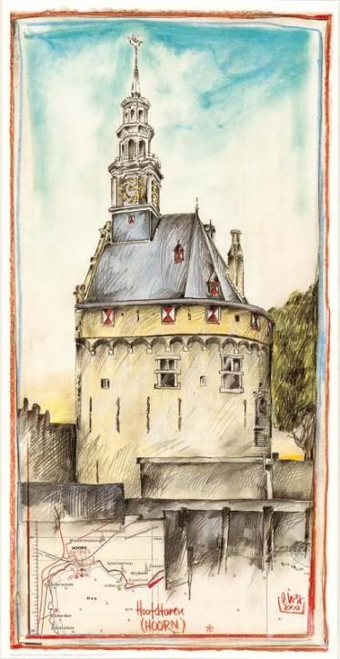 """Kunstdruck """"Hoofdtoren (Hoorn) / Niederlande"""""""