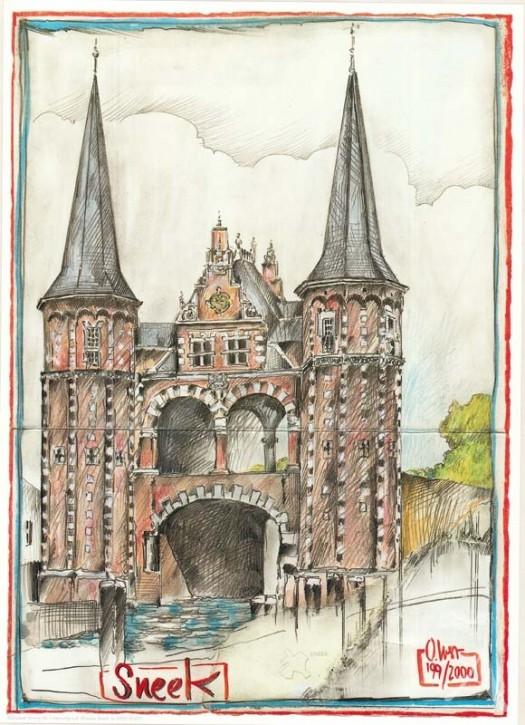 """Kunstdruck """"Sneek / Niederlande"""""""