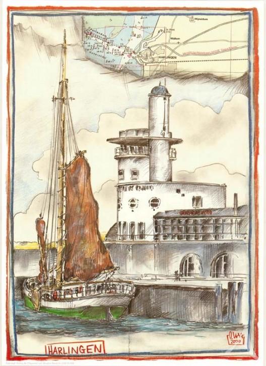 "Kunstdruck ""Harlingen / Niederlande"""