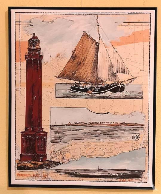 Einzeldruck auf Leinwand - NORDERNEY - von OLE WEST - HANDSIGNIERT - 50 x 70