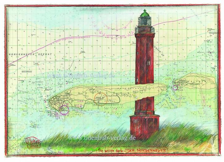 """Kunstdruck auf LEINWAND """"Norderney"""" von Ole West"""