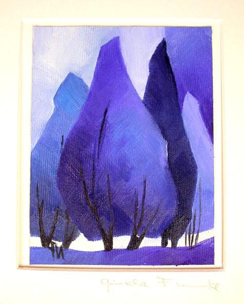 "Gisela Funke ""Blaue Bäume"" UNIKAT"