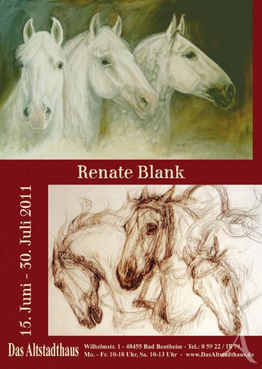 RENATE BLANK  Ausstellungsplakat