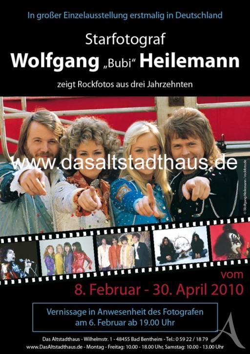 """WOLFGANG """"BUBI"""" HEILEMANN  Ausstellungsplakat"""