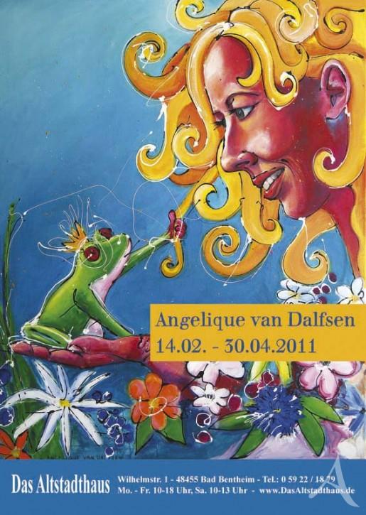 ANGELIQUE VAN DALFSEN  Ausstellungsplakat
