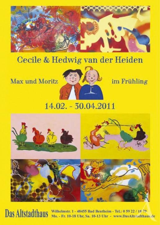 CECILE & HEDWIG VAN DER HEIDEN  Ausstellungsplakat
