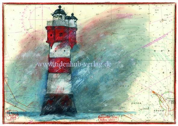 """Kunstdruck auf LEINWAND """"Roter Sand"""" von Ole West"""