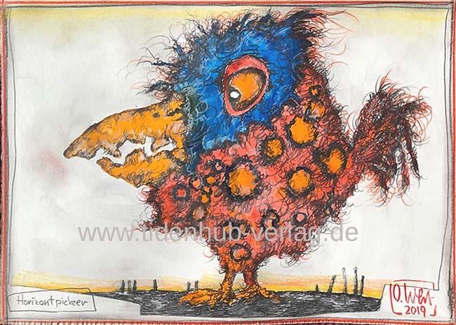 """Originale Zeichnung von OLE WEST """"Horizontpicker"""""""