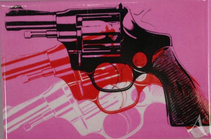 """Magnet """"Guns Pink"""" , Andy Warhol"""
