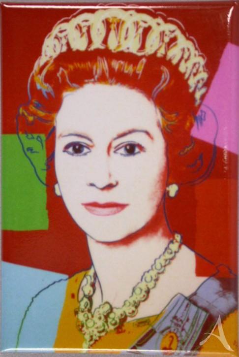 """Magnet """"Queen Elizabeth II"""" , Andy Warhol"""