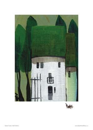 """Kunstdruck """"Häuser, grün"""""""