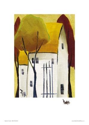 """Kunstdruck """"Häuser, gelb"""""""