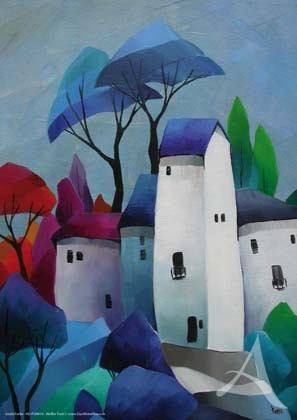 "Kunstdruck ""Weißer Turm I"""