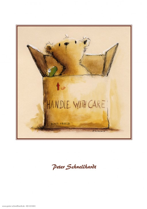 "Kunstdruck ""Handle with care"""