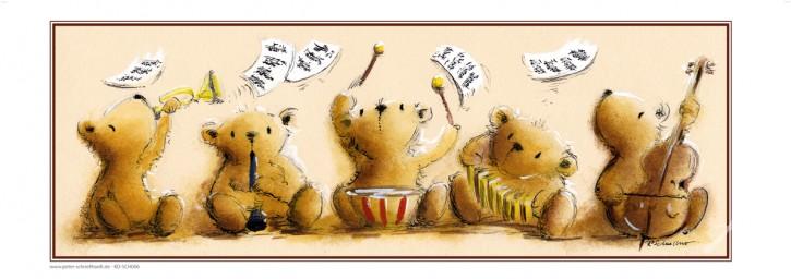"""Kunstdruck """"Bären-Quintett"""""""
