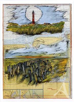 """Kunstdruck """"Inselland-Wattenland"""" HANDSIGNIERT & Limitiert auf 400 Stück !"""
